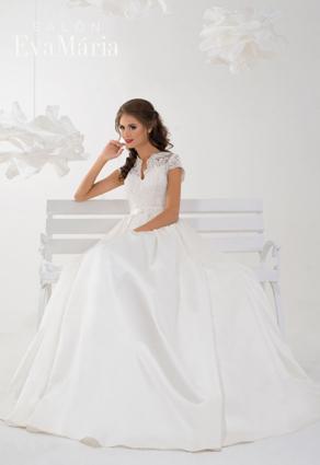 Svadobné šaty s čínskym výstrihom