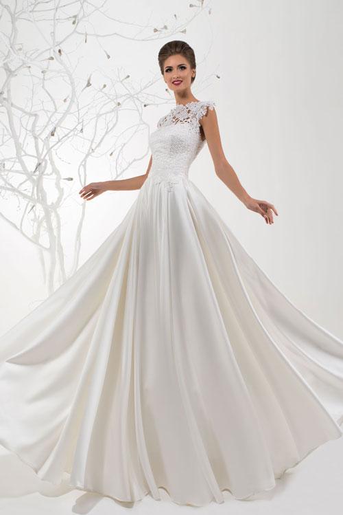 Elegantné svadobné šaty s čipkou - trendy 2016