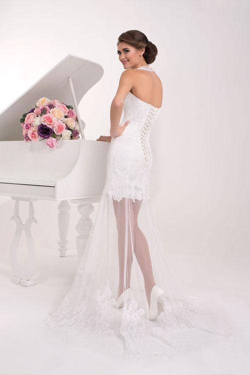 Čipkové originálne svadobné šaty - trend 2016