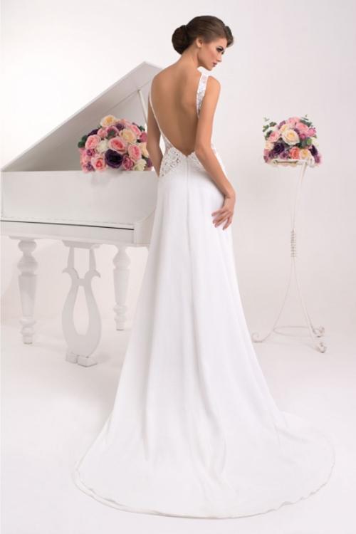 Úzke svadobné šaty s holým chrbátom 2016