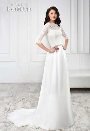 Nádherné svadobné šaty s čipkou so šperkovým výstrihom