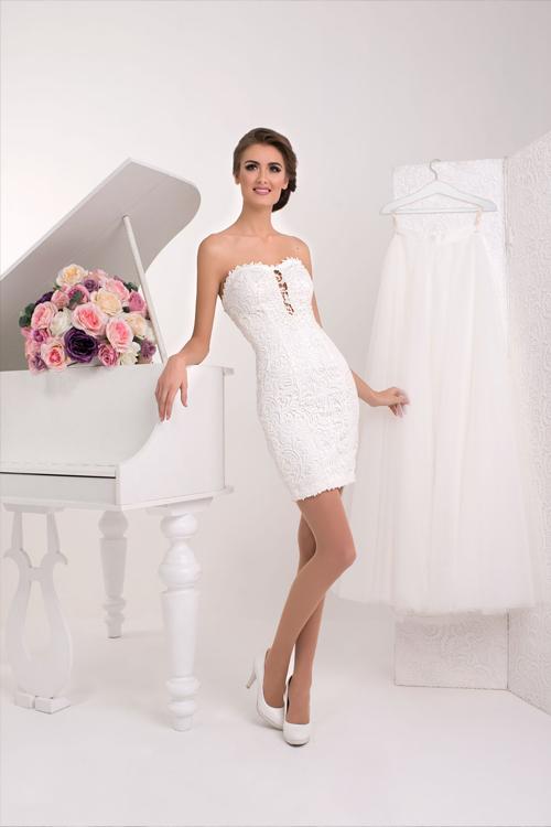 Dvojdielne svadobné šaty s čipkou 2016