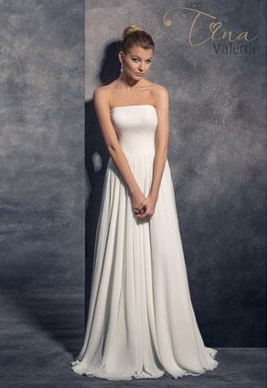 Elegantné svadobné šaty s rovným výstrihom