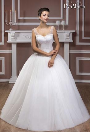 Svadobné šaty s veľkým lodičkovým výstrihom